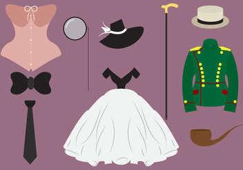 Collection of Old Style Clothes - vector gratuit #297819