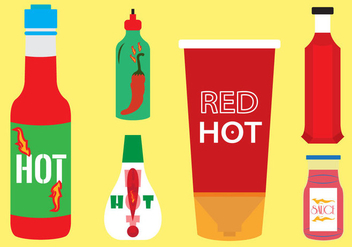 Vector Set of Sauce Bottles - vector gratuit #297839