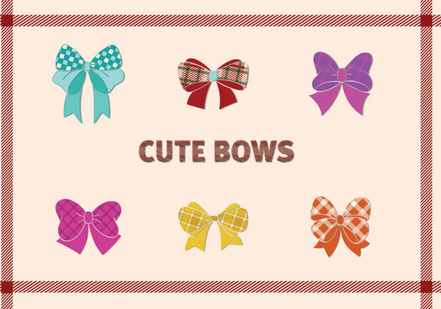 Cute Bow design - vector gratuit #297869