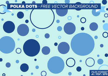 Polka Dots Free Vector Background - vector #297909 gratis