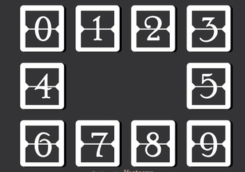 White Simple Number Counter - Free vector #297929