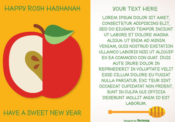 Rosh Hashanah Greeting Illustration - бесплатный vector #297979