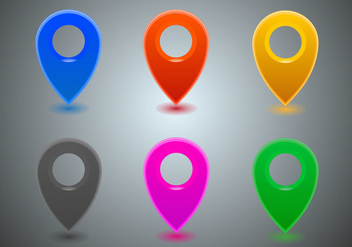 Free Map Icons Vector - Free vector #298029