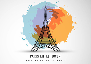 Abstract art of eiffel tower - Free vector #298049