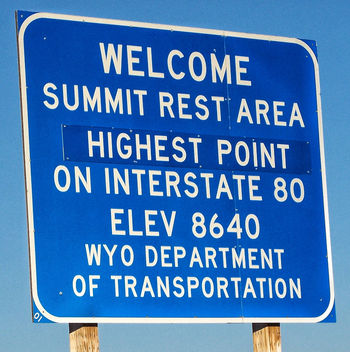 Wyoming USA ~ Highest Point on Hwy I-80~ Summit ~ Old Lincoln Hwy - image gratuit #298699