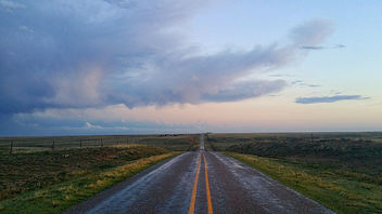 The open road in the Texas panhandle - бесплатный image #298899