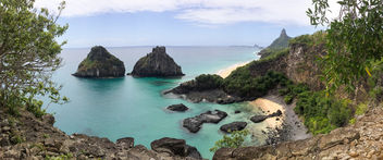View point on Fernando de Noronha island, archipelago - Panoramabild - Free image #299279