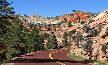 What's around the bend, Zion NP 5-14 - бесплатный image #299369