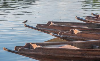 Wooden boats on a pier - image #301459 gratis
