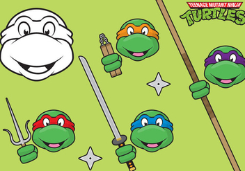 Ninja Turtles - Free vector #301469