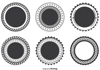 Blank Badge Shape Set - vector gratuit #301489