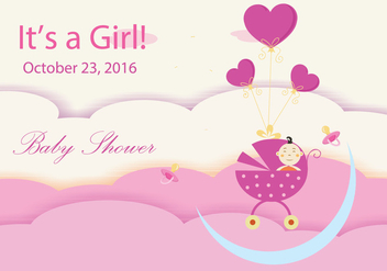 Baby Shower Design - Free vector #301519
