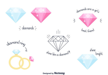 Free Vector Diamond - vector gratuit #301539