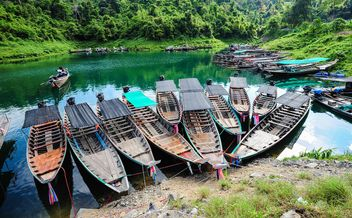 Moored fishing boats - image #301709 gratis