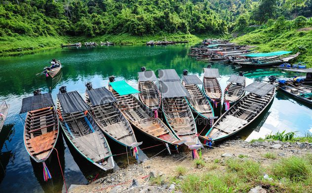 Moored fishing boats - Free image #301709