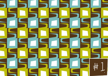 Free Mid Century Pattern #1 - Free vector #301769