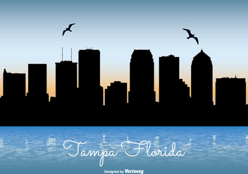 Tampa Florida Skyline Illustration - Kostenloses vector #301799