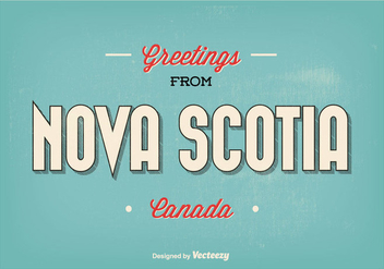 Nova Scotia Greetings Illustration - Free vector #301829