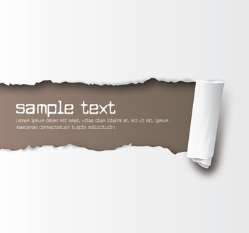 White Ripped Paper Brown Background - vector gratuit #301889