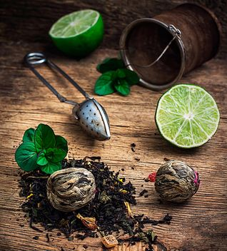 Dry tea, mint and lime - image gratuit #302099
