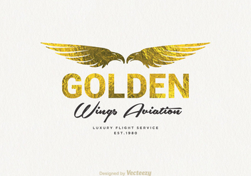 Free Golden Wings Logo Vector - Kostenloses vector #302129