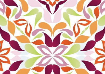 Seamless Bright Floral Pattern - vector gratuit #302139