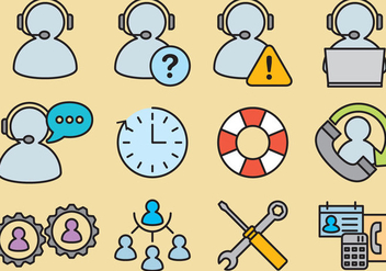 Administrative Assistant Vector Icons - бесплатный vector #302149