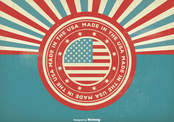 Vintage Style Made In the USA Illustration - vector gratuit #302159