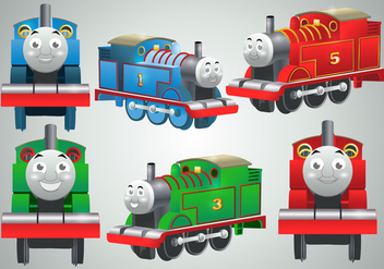 Thomas The Train Vectors - vector gratuit #302219