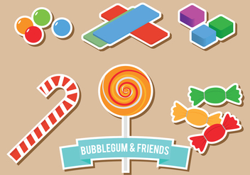 Bubblegum and Friends - vector gratuit #302239