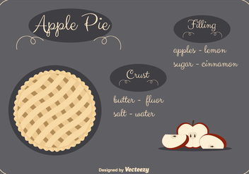 Apple Pie Vector Background - vector #302249 gratis