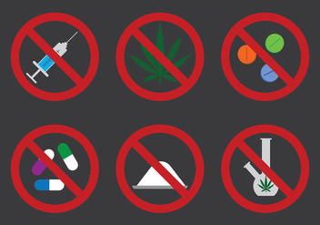 No Drugs Icon Vector - Kostenloses vector #302429