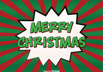 Comic Style Merry Christmas Illustration - vector gratuit #302449
