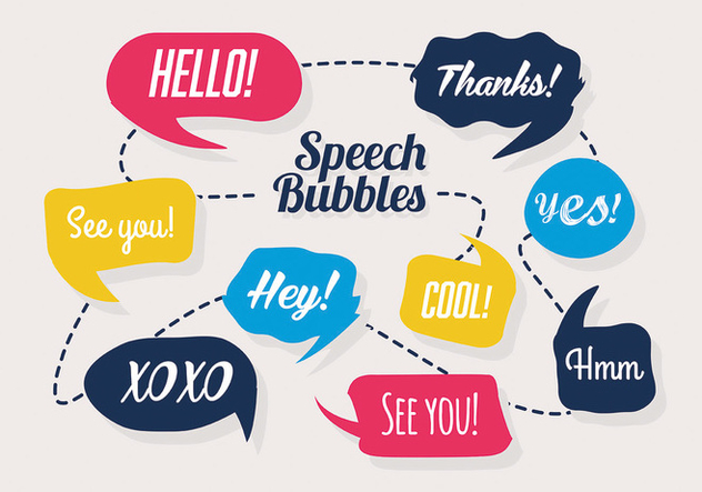 Free Colorful Set of Speech Bubbles Vector - Free vector #302459
