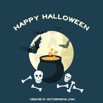 Funky Bones Bats Halloween Background - Free vector #302479