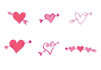 Free Arrow Through Heart Vector Series - vector gratuit #302579