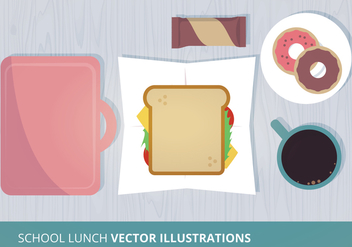 School Lunch Vector Illustration - vector gratuit #302589
