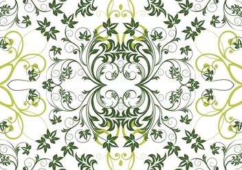 Green Floral Repeat Vector Background - Free vector #302629