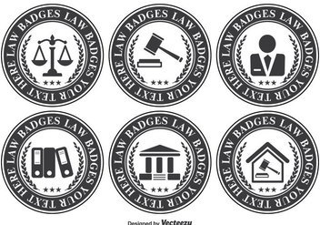 Law Office Badge Set - vector gratuit #302649