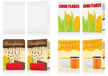 Cereal Boxes - vector gratuit #302679