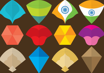 Colorful Kite Vectors - Free vector #302689
