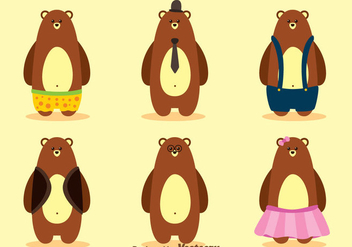 Vector Bear With Clothes - vector gratuit #302979