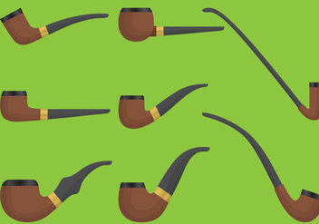 Wooden Tobacoo Pipe Vectors - бесплатный vector #303029