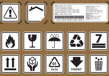 Packaging Stickers - vector gratuit #303089