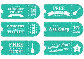 Vintage Blue Ticket Vector - vector gratuit #303099