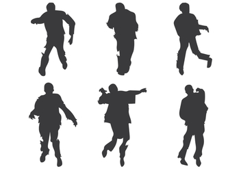 Zombie Silhouette Vector - Free vector #303109