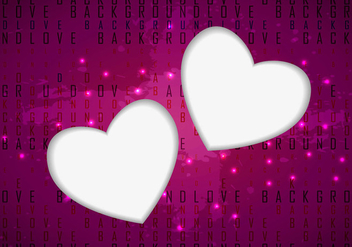 Love Hearts Vector Background - Kostenloses vector #303119