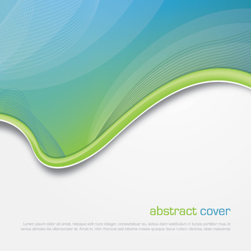 Abstract Arched Waves Cover - vector gratuit #303189