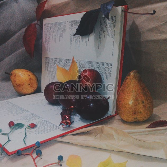 Still life of apples on a book - Kostenloses image #303349