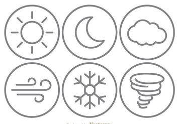 Weather Line Icons - vector #303379 gratis